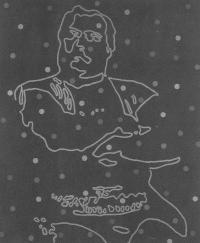 """Cynthia Girard LE PAVILLON DU QUÉBEC—Troisième volet: le panthéon © Cynthia Girard, exposition """"Le Pavillon du Québec"""", Galerie B-312, 2003."""