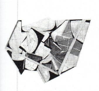 """Geneviève Rocher DÉCOUPURE © Geneviève Rocher, exposition """" Découpure"""", Galerie B-312, 2001."""