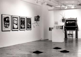"Artistes variés home is where the art is © Artistes variés, exposition "" Home is where the art is"", Galerie B-312, 1994."