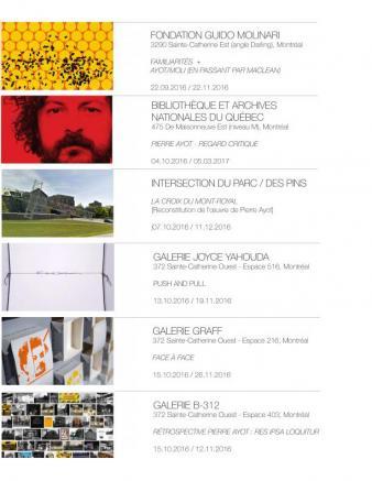 Pierre Ayot Rétrospective Pierre Ayot—Les lieux Galerie Graff