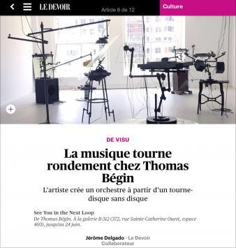 Thomas Bégin See You In The Next Loop Capture écran / Le Devoir
