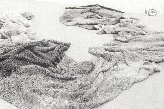 """Germaine Koh THE WORK OF RESISTANCE © Germaine Koh, installation """"Knitwork"""", Galerie B-312, 1993."""