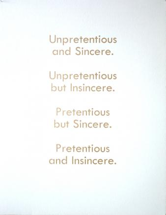 Unpretentious and Sincere
