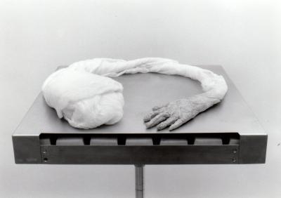 """Hélène Lord APPRENTISSAGES © Hélène Lord, exposition """" Apprentissages"""", Galerie B-312, 1996."""