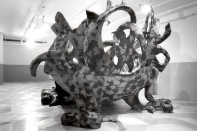 """Gildas Berhelot LA SALLE DE BAIN © Gildas Berthelot, exposition """"La salle de bain"""", Galerie B-312, 1995."""