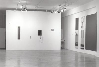 """Éric Ladouceur PEINTURE DE LUXE © Christian Dunberry, Louise Isabelle, Éric Ladouceur, Pascal Léveillé, Christian Parent, exposition """"Peinture de Luxe"""", Galerie B-312, 1995."""