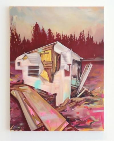 Isabelle Guimond Peinture et reflet social ©Isabelle Guimond—Galerie B-312