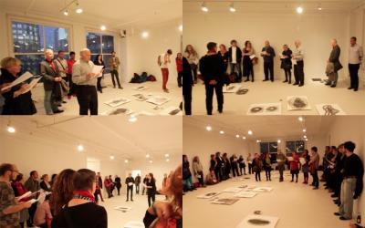 Charles Guilbert UN ÉVÉNEMENT PARLÉ-CHANTÉ © Charles Guilbert—événement parlé-chanté—Galerie B-312