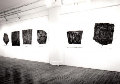 """Geneviève Rocher UN PETIT DÉTOUR © Geneviève Rocher, exposition """"Un petit Détour"""", Galerie B-312, 1993."""